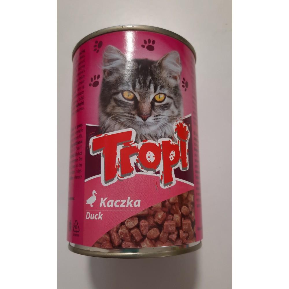 Tropi Влажный корм для котов кусочки утки в соусе