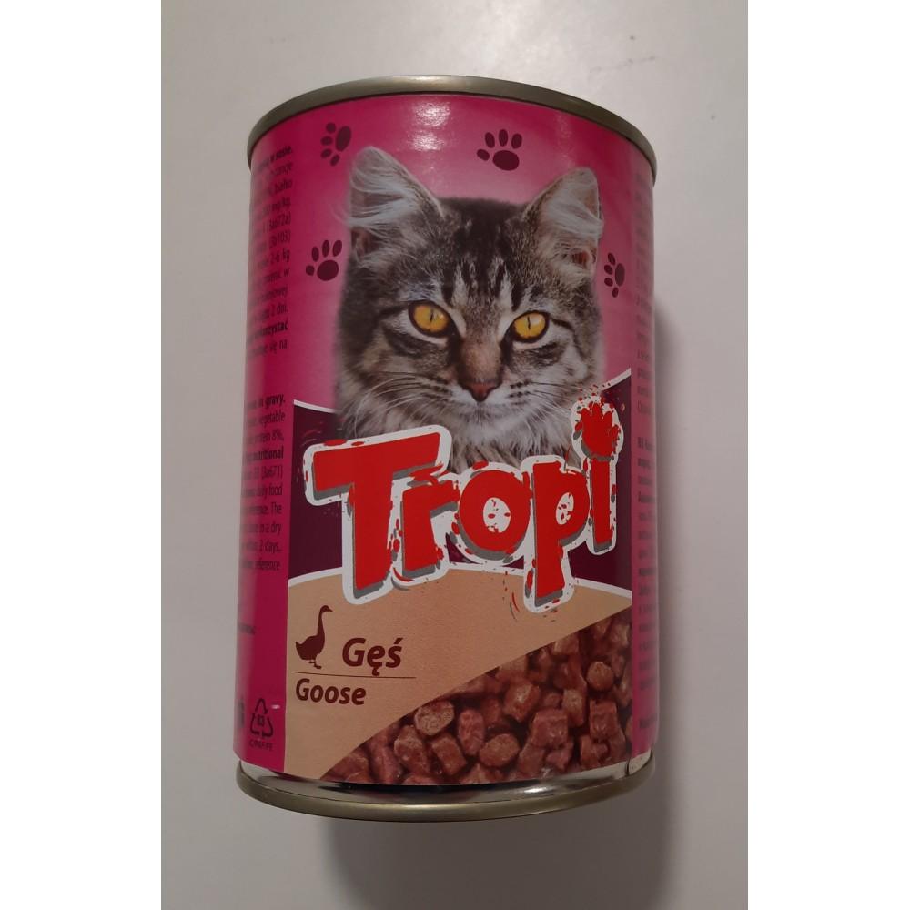 Tropi Hrană umedă pentru pisici bucăți de gâscă în sos
